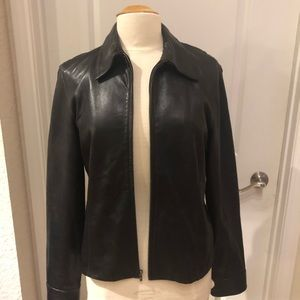 Calvin Klein motorcycle leather jacket size large